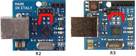 Differences Between the Arduino Uno Revision 2 and Revision 3