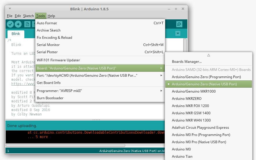 WeMos SAMD21 Arduino M0 Quick Start Tutorial