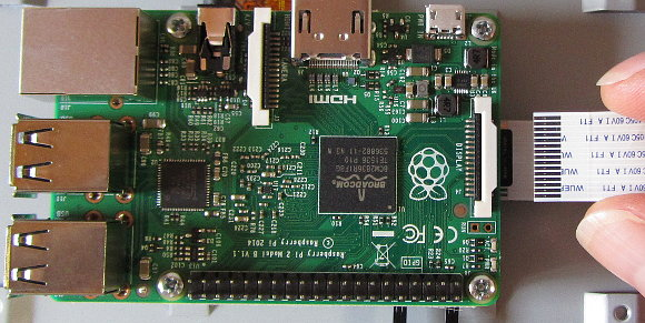 how to connect mobile display to raspberry pi