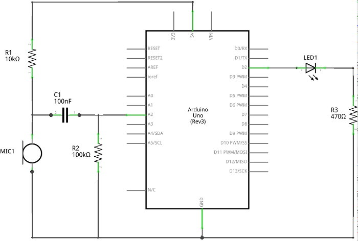 arduino clap switch project for beginners arduino clap switch project circuit diagram