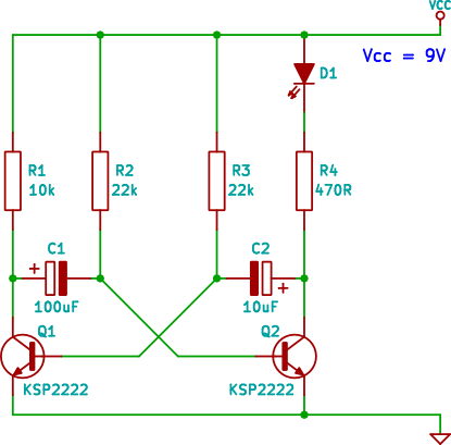 Led Transistor Flasher Circuit on 12v Led Flasher Circuit Diagram