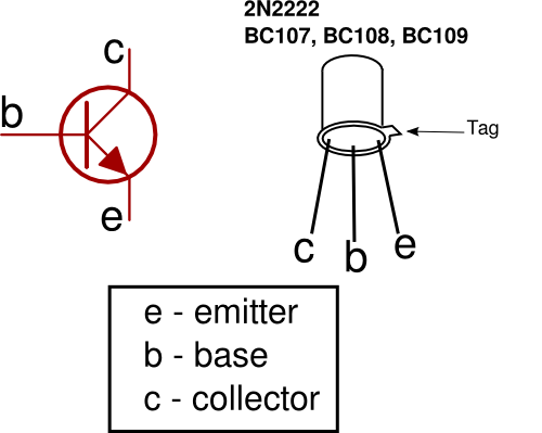 Transistor on capacitor symbol circuit diagram