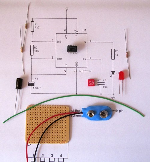 Making a Stripboard Circuit Building and Soldering a LED Flasher