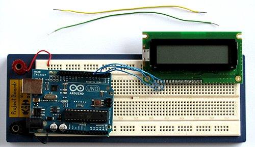 Conecte las líneas de datos LCD