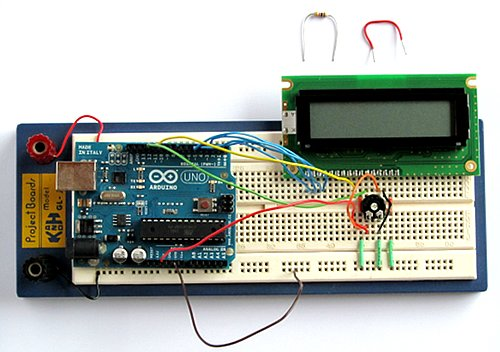 Tutorial arduino lcd connection and sketches