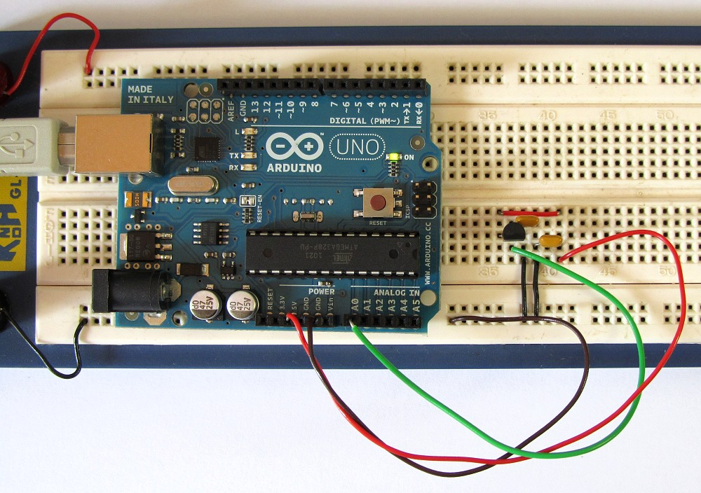 Tutorial 15: Arduino Serial Thermometer Circuit and Sketch