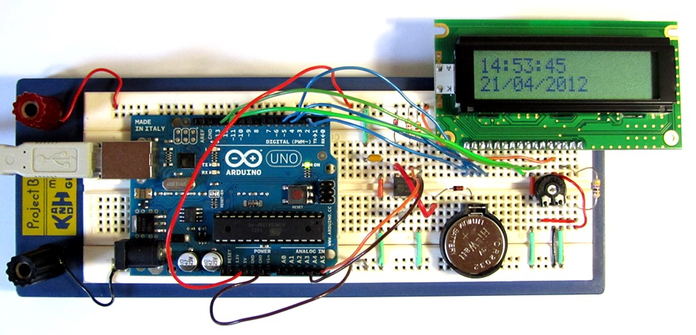 tutorial 16 arduino clock circuit and sketch using pcf8563 real