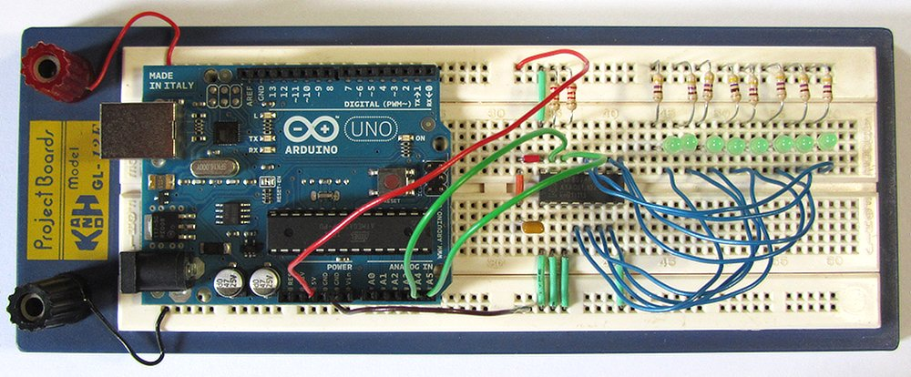 Tutorial two wire arduino knight rider circuit and