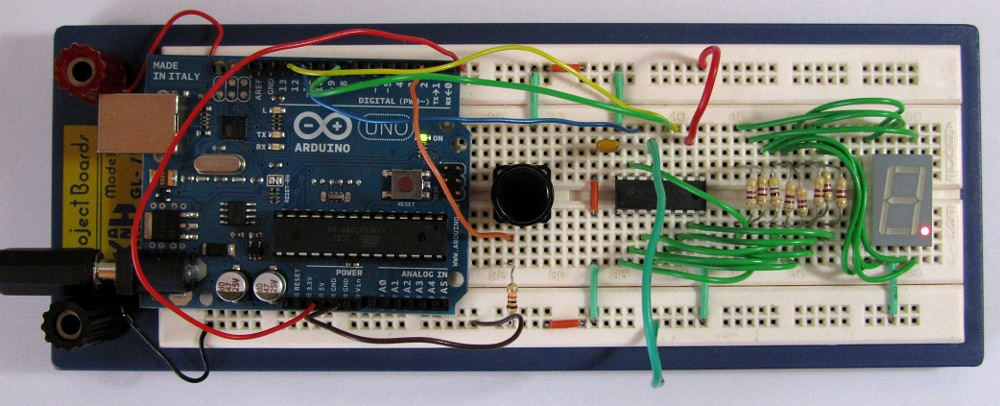 Astonishing Tutorial 19 Arduino Dice Circuit And Sketch Using A 7 Segment Display Wiring Database Gramgelartorg