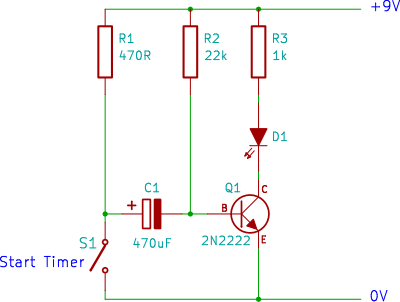 tutorial 2 transistor timer circuit single transistor timer circuit diagram