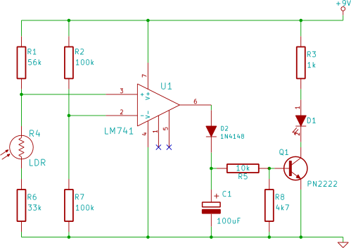 tutorial 20 automatic light circuit for beginners rh startingelectronics org automatic led light circuit diagram automatic led light circuit diagram