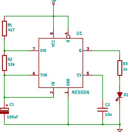 tutorial 5 555 led flasher electronic circuit Basic LED Circuit Arduino LED Circuit