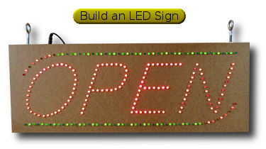 Shop open sign made with LEDs