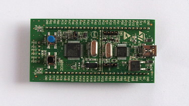 STM32F100 evaluation board