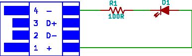 usb led torch circuit diagram