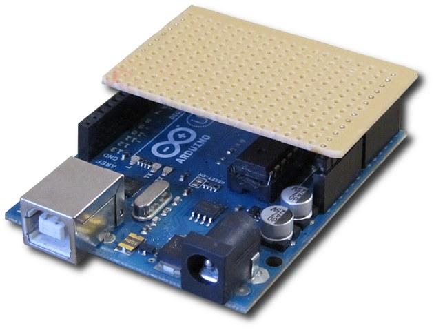 Arduino home-made shield: The Tiny Stripboard Shield
