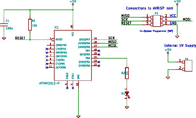 ATtiny2313 PWM - Pulse Width Modulation