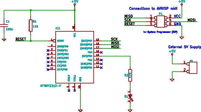 ATtiny2313 10-bit PWM using TC1