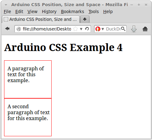 Css for positioning sizing and spacing for Html div position