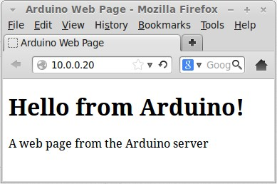 Arduino download web page