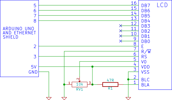 Send text from a web page to arduino lcd lcd to arduino connection circuit diagram asfbconference2016 Images